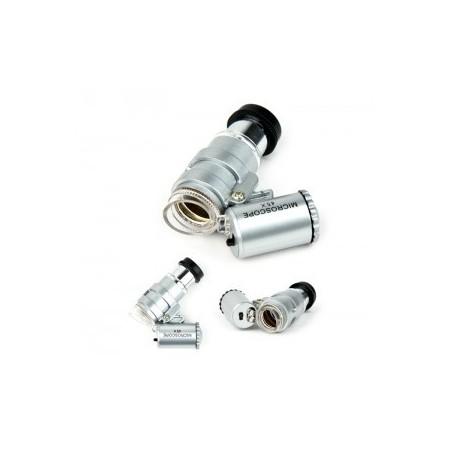 Mini microscopio 45 X luz led. Accesorios