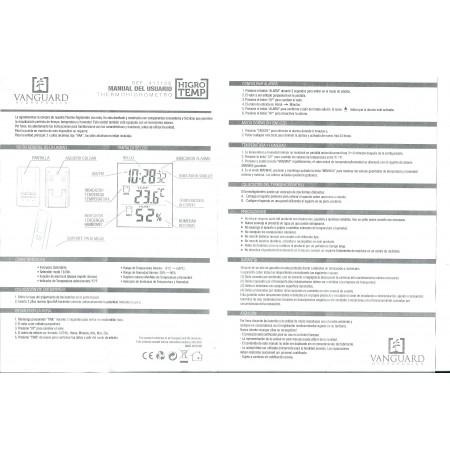 Termohigrómetro Vanguard Hydroponics