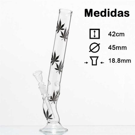 Bong cristal hojas cannabis y hielo