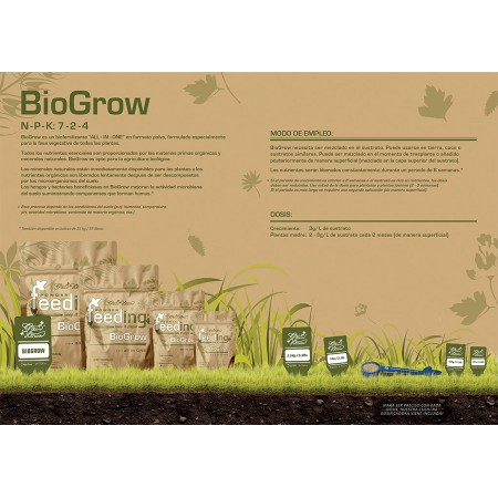Tabla de cultivo Bio Grow GH Feeding