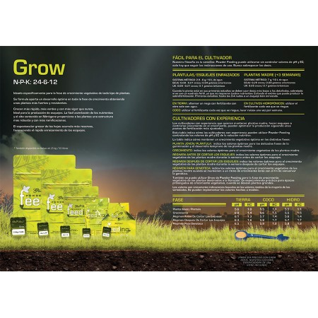 Tabla de cultivo Grow Powder Feeding