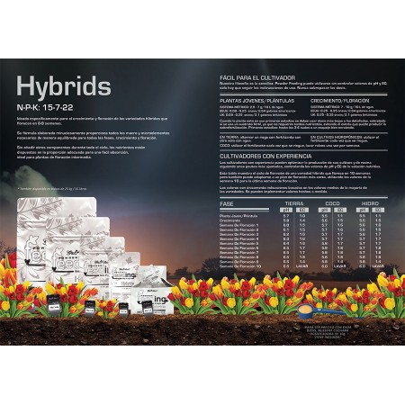 Tabla de cultivo Hybrids Powder Feeding