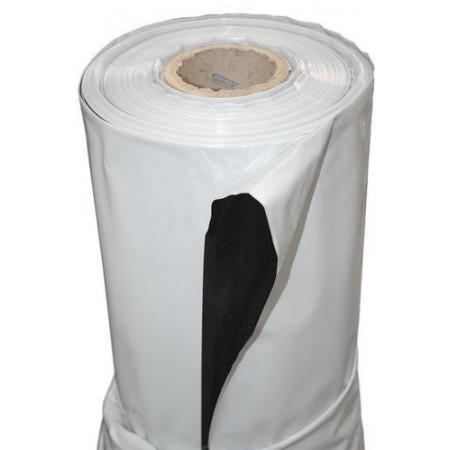 Plastico blanco-negro 1 metro.