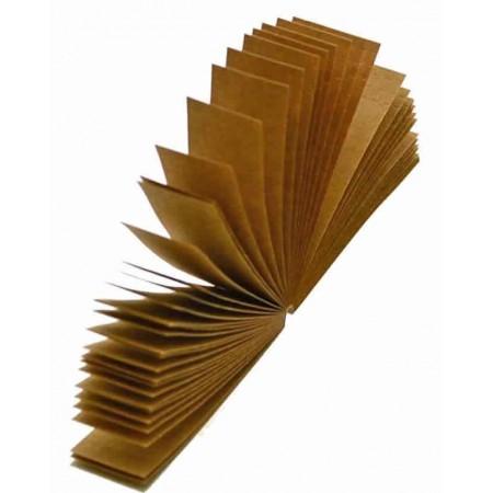 Boquillas cartón marrón 50 uds/pack