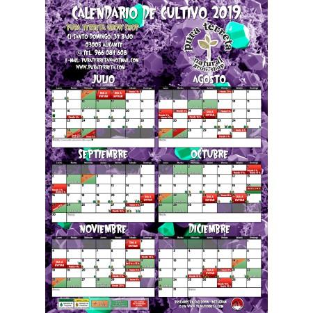Calendario de cultivo 2019