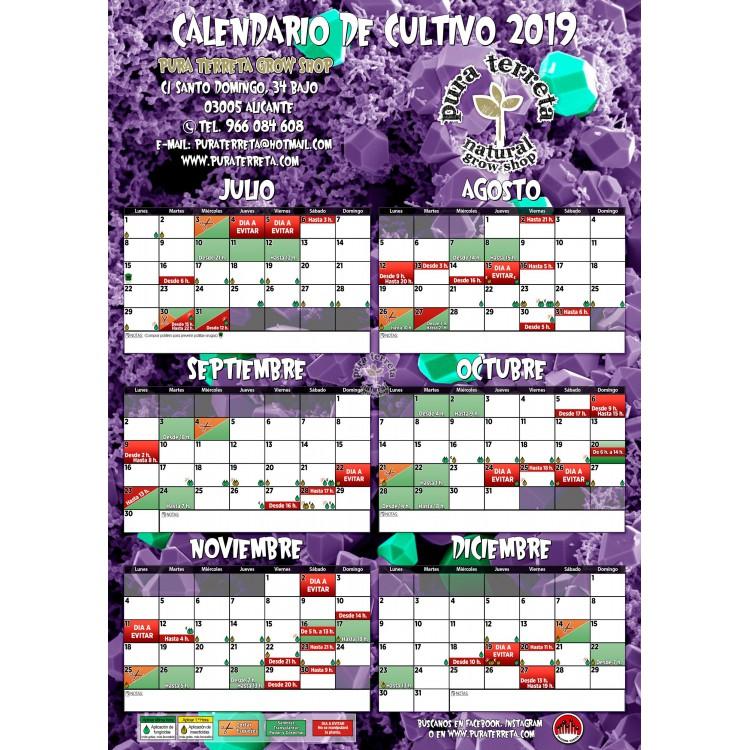 Calendario Lunar Cannabico 2019 Espana.Calendario Lunar