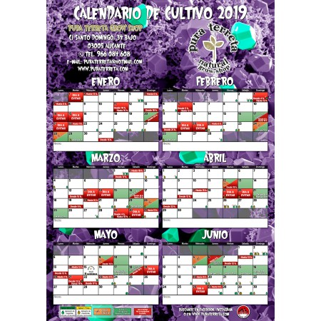 Calendario Lunar Cannabico 2019 Espana.Calendario Lunar Gratis Pura Terreta