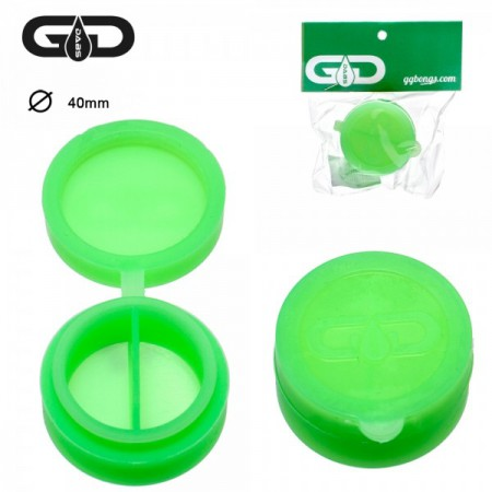 Bote silicona 40mm doble green
