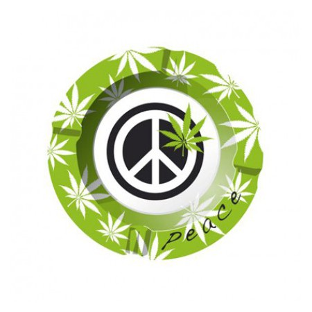 Cenicero metal peace 3
