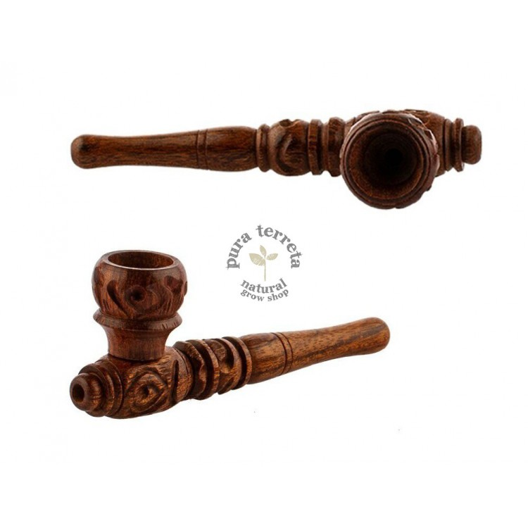Pipa madera decorada 10 cm