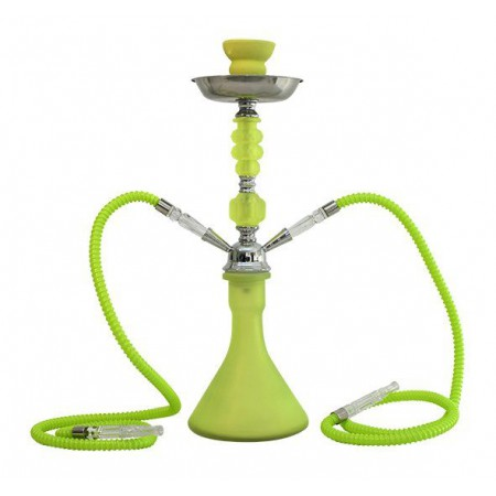 Shisha 2 brazos 47 cm fluor verde