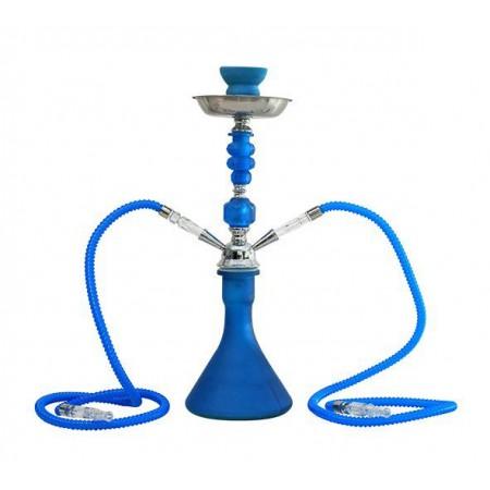 Shisha 2 brazos 47 cm fluor azul