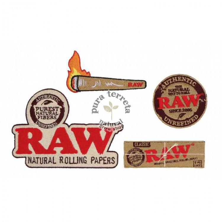 Parches de tela Raw