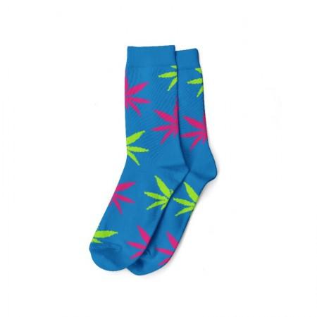 Calcetines azul/verde-rosa mujer