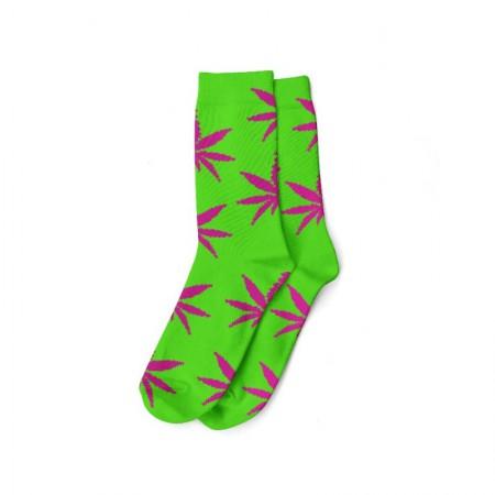 Calcetines verde/rosa mujer