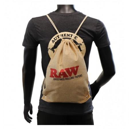 Raw Drawstring Bag Beige